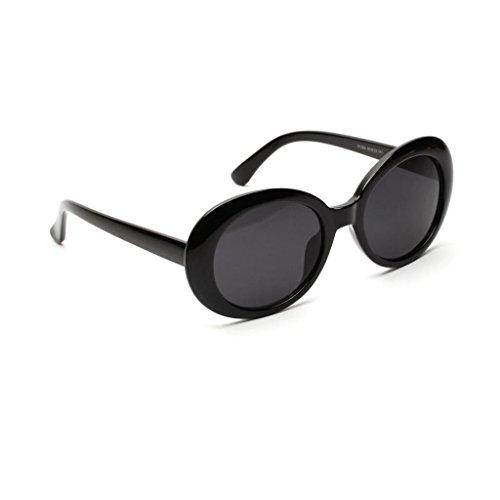 Soleil Solaires Unisexe UVB Protéger Plage De Rayons Noir MagiDeal Vacances Style Rétro Ronde Lunettes HnS4x4