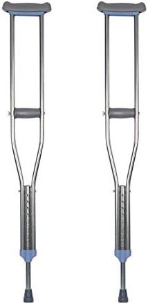 LXJ-KLD Muletas Gruesas de aleación de Aluminio de la axila, muletas Dobles telescópicas, muletas de un Solo litro Ajustables, Ligera de Aluminio muletas de antebrazo portátil