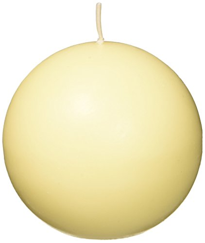 Zest Candle 6-Piece Ball Candles, 3-Inch, Ivory