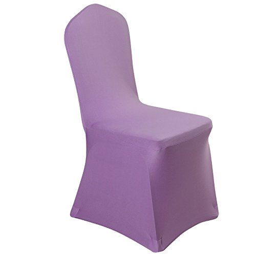Like Paper Banquet Table Covers (Spandex Dining Chair Cover Covers for Wedding Banquet (Light Purple))