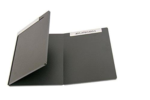 MyLapBoards Lap Desk. THE ORIGINAL folding lap desk. Opens. Lies flat. Metal rails slide to lock.