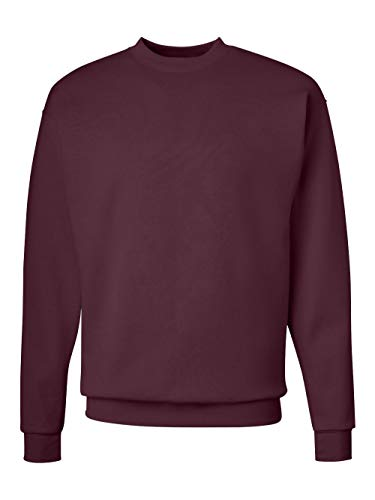 Hoody Sweatshirt Maroon (Hanes Men's EcoSmart Fleece Sweatshirt, Maroon, Large)