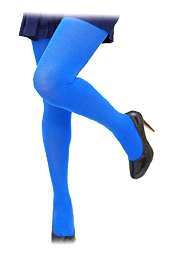 Sexy Warm Opaque Royal Blue Color Tights XS ~ M - Colour Tights