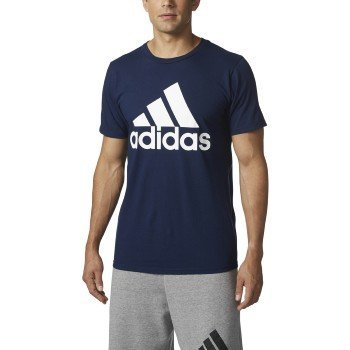 adidas Men's Badge of Sport Graphic Tee, Collegiate Navy/White, X-Large
