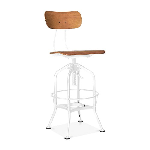 Design Lab MN LS-9199-NATWHT Toledo Barstools, Natural White ()