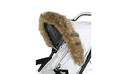 Mi Babiie Universal carrito/cochecito capucha de piel de color marrón accesorio