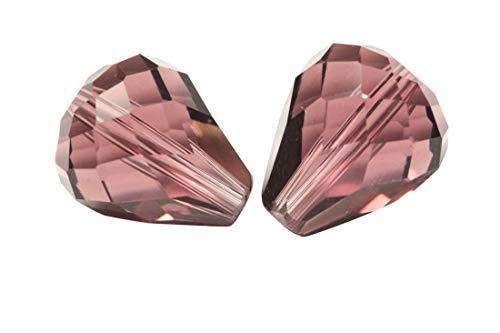 - 50pcs 12x10mm Adabele Austrian Teardrop Crystal Beads Amethyst Compatible with 5500 Swarovski Crystals Preciosa SST-1211