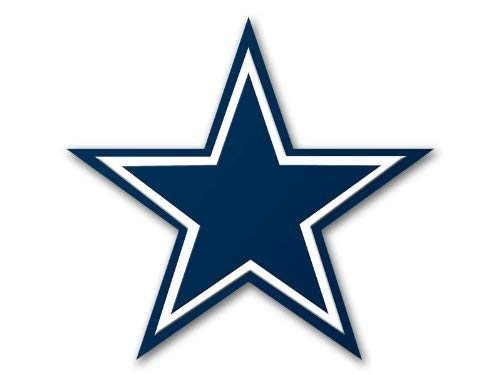 LARGE 8x8 in Dallas Cowboys Star Shaped Sticker (window decal) ()