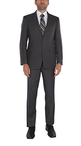Italian Shirt Jacket - P&L Men's Premium Slim Fit 2-Piece Suit Blazer Jacket & Flat Pants Set
