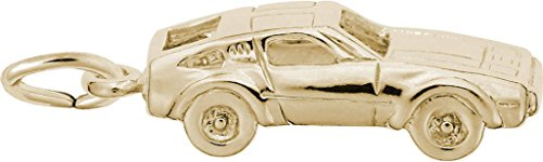Rembrandt Sports Car Charm - Metal - Gold-Plated Sterling Silver