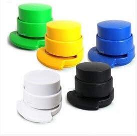 School Office Supplies ミニノーステープル紙ルーズリーフホッチキスエア無針バインダー、ランダムな色配達