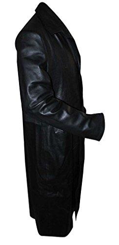 Zouq Fashions Herren Trenchcoat Mantel schwarz schwarz