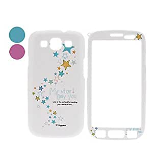 Stars Pattern Front and Back Full Body Case for Samsung Galaxy S3 I9300 (Assorted Colors) , Purple