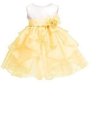 02283a9c57ea KID Collection Baby-girls White banana Birthday Party Dress Size Xl ...