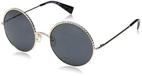 Marc Jacobs Women's Marc169s Round Sunglasses, Gold Black/Gray Blue, 57 - Sunglasses Round Jacobs Marc