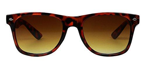 Basik Eyewear - Retro Tortoise Shell Classic 80's Vintage Style Wayfarer - Wayfarer Tortoise Shell