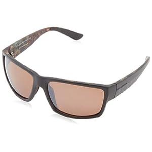 Field & Stream Roe Polarized Square Sunglasses,Camo Green,60 mm