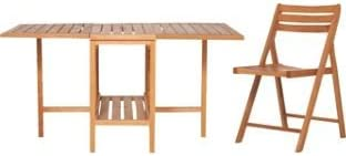 Chairs Set Habitat Zeno Oak Garden Table And 4 Amazon Co Uk Garden Outdoors