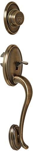 Schlage F92-WKF Wakefield Exterior Dummy Handle (Interior Side Sold Separately), Antique Brass