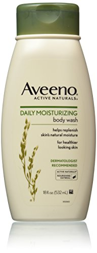 Aveeno Active Naturals Daily Moisturizing Body Wash with Natural Oatmeal, 18 Ounce (Pack of 3) by Aveeno