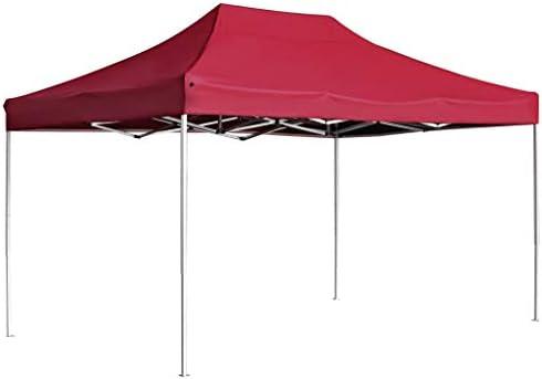 vidaXL Carpa Plegable Profesional Aluminio Cenador Pagoda Pérgola Fiestas Celebraciones Salones Estructuras Recintos Parasoles 4,5x3 m Rojo Vino Tinto: Amazon.es: Hogar