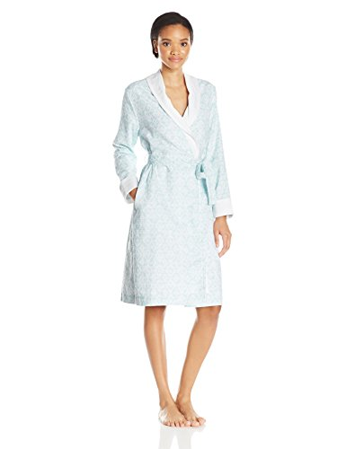 IRelax Women's Jacquard Velour Terry Shawl Robe-42