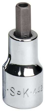 Socket Bit, 3/8 in. Dr, 1/4 in. Hex