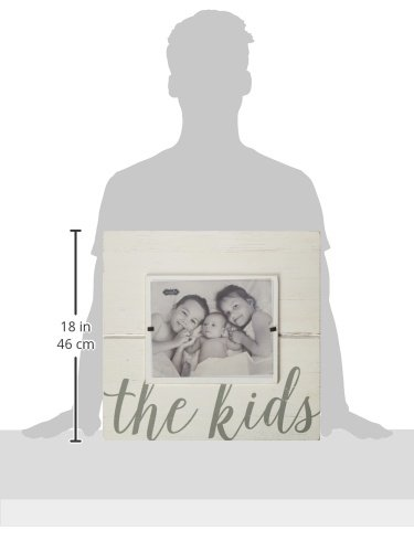 Mud Pie Distressed White-Washed Wood Kids Sentiment Frame 8 x 10 4695391
