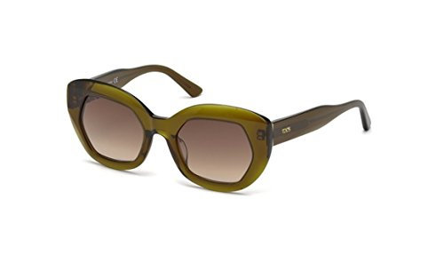 Tod's TO0144 - 93F Transparent Olive Sunglasses
