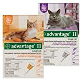 Advantage II for Cats (Over 9 lbs- 6 Pack), My Pet Supplies
