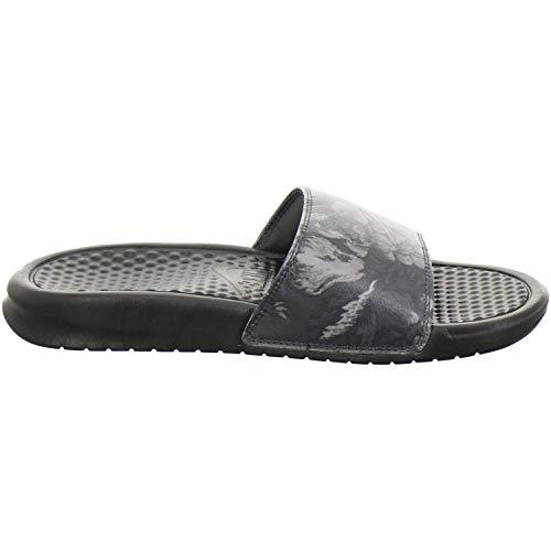 Mujer black black Nike 025 Wmns Benassi Print Negro Para Chanclas Jdi w6Y8wnz