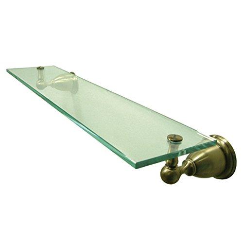 Kingston Brass BA1759AB Heritage Glass Shelf, 18-Inch, Vintage Brass by Kingston Brass