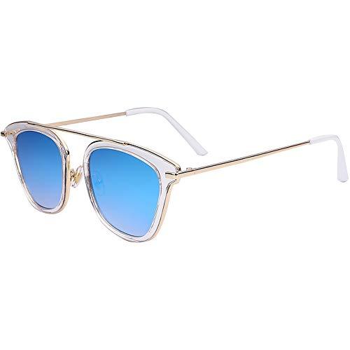 soleil bleues lunettes soleil de NIFG de mode transparentes de Lunettes FqqavwnE