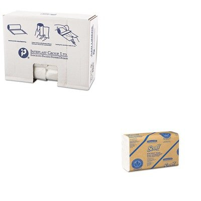 KITIBSS303716NKIM01960 - Value Kit - Kimberly Clark 01960 SCOTTScottfold Multi-Fold Paper Towels (KIM01960) and Integrated Bagging Systems S303716N Natural 16 Mic High Density Can Liners, 30quot; x 37quot; (IBSS303716N)