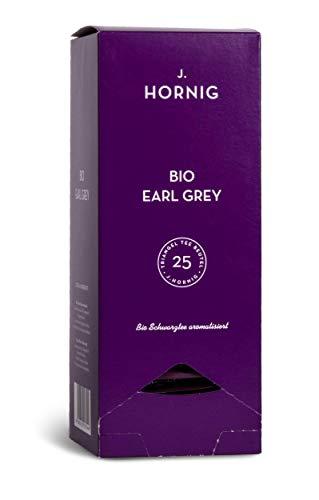 J. Hornig Bio Schwarztee, Tee im biologisch abbaubaren Pyramidenteebeutel, 25 Tee-Sachets, natürlicher Schwarzer Tee ohne zugesetzte Aromen