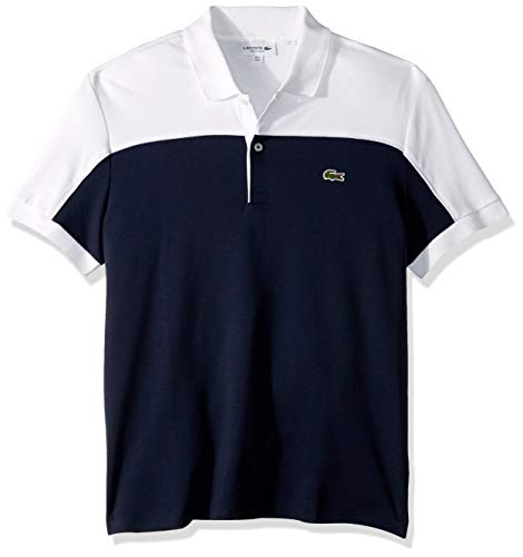 761ae6599f0f Lacoste Men s S S Colorblock Interlock Polo Regular FIT