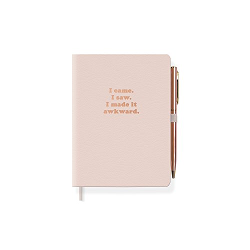 Fringe Vegan Leather Journal with Slim Pen, 192 Lined Pages, 4.5 x 6.5 Inches, Awkward (jps040)