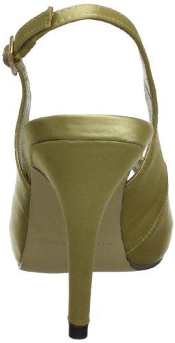 MENBUR Savoia 5177 - Sandalias de satén para mujer Dorado (Gold (Champagne 45))
