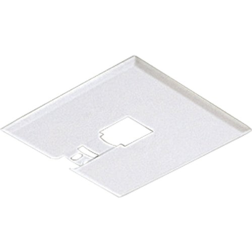 107-28 Canopy Kit Flush Mount Mounting Plate, Bright White (Canopy Mount Track Pendant)