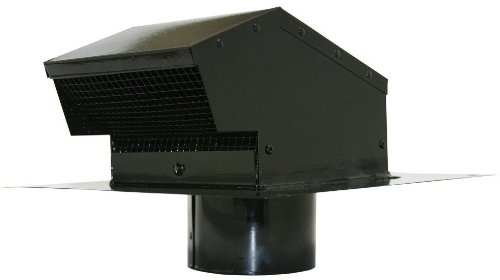Builder's Best 012635 Roof Vent Cap, Black Galvanized Metal, with 4-inch diameter collar (Exhaust Fan Roof compare prices)