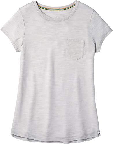 SmartWool Women's Everyday Exploration Slub Short Sleeve Tee Ash Heather Large -