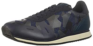 A|X Armani Exchange Mens XUX018XV027 Low Top Camo Lace Up Sneakers Blue Size: 7