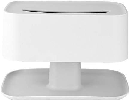 テーブルランプ形状デスクトップティッシュボックスリモコン収納ボックスホーム多機能収納リビングルームコーヒーテーブルナプキントレイ(グレーホワイト)