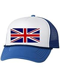 e8e96ed9 United Kingdom Trucker Hat UK Union Jack Baseball Cap Retro Vintage British  Great Briton