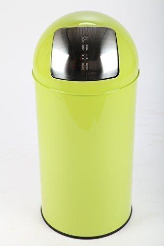 point-home Mülleimer Abfalleimer PUSH 36 L Stahl grün lackiert
