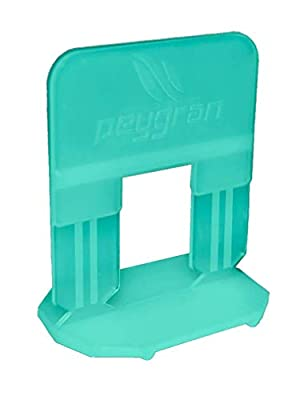 """Peygran Tile Leveling System 1/8"""" (3MM): 500 Clips. Lippage free tile and stone installation for PRO and DIY. The most precise and reliable product on the market."""
