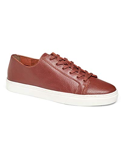 Anthony Veer Coolidge Tennis Men's Lace-up Luxury Italian Milled Leather Fashion Sneaker Comfort Lifestyle Streetwear (13 D US, Brown) ()