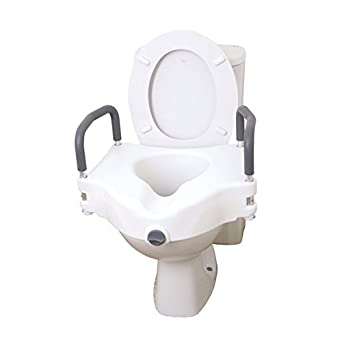 Fantastic Drive 2 In 1 Elevated Toilet Seat Removable Arms Raised Disability Aid Universal Cjindustries Chair Design For Home Cjindustriesco