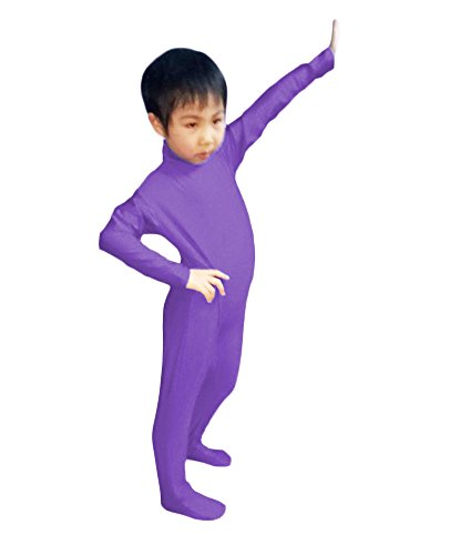 WOLF UNITARD Kids Lycra Spandex Bodysuit Dancewear Medium Purple - Kids Body Suit