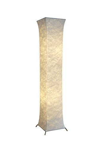 - Modern Floor Lamp,YENNY SHOP 52 inch Floor lamp Tyvek Fabric shade Simple Slim shape Warm atmosphere 2 bulbs included Contemporary Design Roman square column LED Floor Lamp for Living Room,Bedroom, Ho
